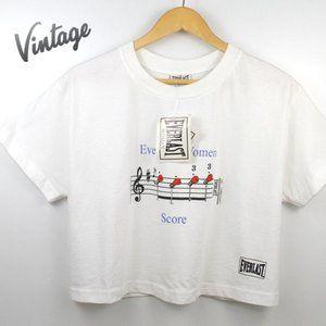 Vintage 90s Everlast Crop Top Tee T-shirt